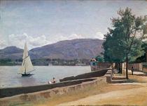 The Quai des Paquis, Geneva von Jean Baptiste Camille Corot