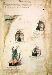 Departure of Vasco da Gama in 1497 von Portuguese School