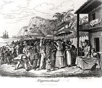Slave Market in Martinique von Albert Schule