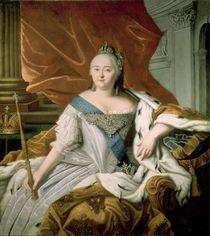 Portrait of Elizabeth Petrovna Empress of Russia von Russian School