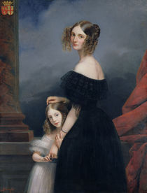 Portrait of Anne-Louise Alix de Montmorency von Claude-Marie Dubufe