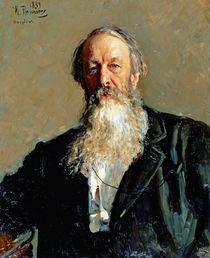 Portrait of Vladimir Stasov von Ilya Efimovich Repin