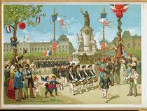 March-Past in the Place de la Republique von French School