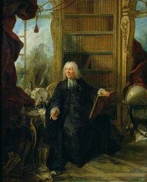 Abbot Nollet in his study, in chateau de la Muette optical pavilion von Jacques de Lajoue