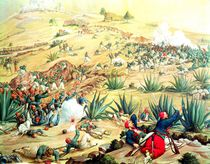 The Battle of Puebla, 5 May 1862 by Mexican School