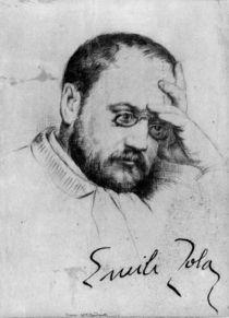 Portrait of Emile Zola by French School