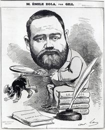 Emile Zola as a naturalist by Andre Gill