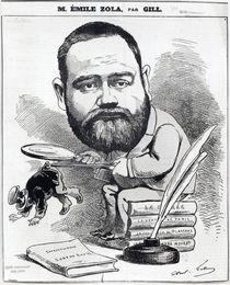 Emile Zola as a naturalist von Andre Gill