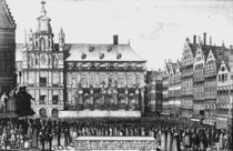Proclamation of the peace of Westphalia in 1648 by Wenceslaus Hollar