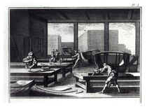 Joiner's workshop, making coaches and sedan chairs by French School