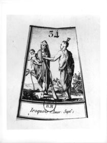 Iroquois Indians by French School