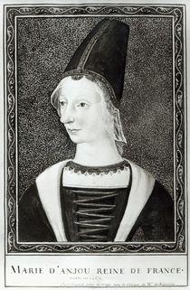 Marie d'Anjou Queen of France von Francois Roger de Gaignieres