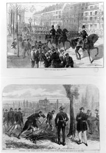 Entry of the German troops into Paris by English School