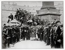 Federes before the Vendome Column during the Commune von Bruno Braquehais