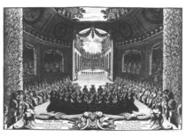 Concert in the garden of Trianon by Francois Chauveau