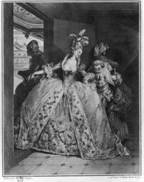 The Farewells, 1777, engraved by de Launey the Younger by Jean Michel the Younger Moreau
