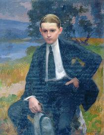 Portrait of Marcel Renoux aged about 13 or 14 von Jules Ernest Renoux