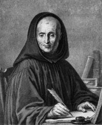 Portrait of Jean Mabillon engraved by Alexis Loir von Claude-Guy Halle