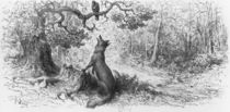 The Crow and the Fox, from 'Fables' by Jean de La Fontaine by Gustave Dore