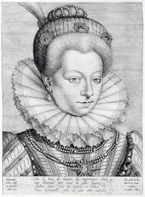 Portrait of Catherine Henriette de Balzac d'Entragues von Hieronymus or Jerome Wierix
