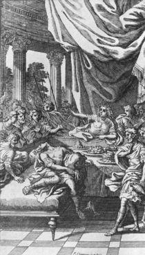 The Death of Britannicus, from 'Britannicus' by Jean Racine von Francois Chauveau