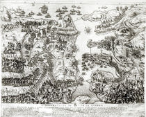 Map of the Siege of Malta in 1565 by Italian School