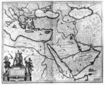 Map of the Ottoman Empire, from the 'Atlas Novus' by Joannes Jansson