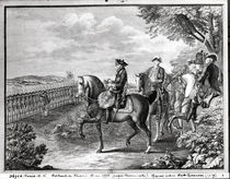 King Frederick II of Prussia reviewing the troops in 1778 by Daniel Nikolaus Chodowiecki