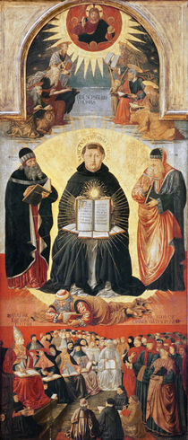The Triumph of St. Thomas Aquinas von Benozzo di Lese di Sandro Gozzoli