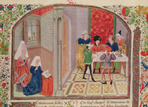 Ms 927 Fol.107 Temperance and Intemperance by French School