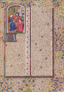 Ms 927 Fol.186 Presentation of 'The Politics' to the King by French School
