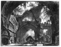 Ruined Gallery of the Villa Adriana at Tivoli von Giovanni Battista Piranesi