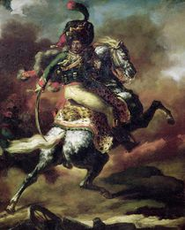 Officer of the Hussars Charging on Horseback von Theodore Gericault