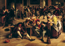 Feast in an Inn, detail of the central group by Jan Havicksz Steen