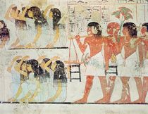 Group of mourners in the funeral procession of Ramose by Egyptian 18th Dynasty