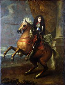 Equestrian Portrait of Louis XIV c.1668 by Charles Le Brun
