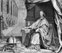 Portrait of Cardinal Mazarin in his Palace by Robert Nanteuil