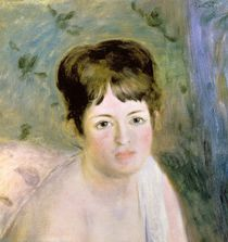 Woman's Head, c.1876 by Pierre-Auguste Renoir