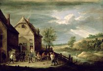 Peasants Playing Boules von David the Younger Teniers