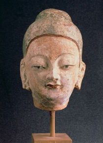 Head of a statue of Buddha by Xingjiang