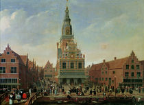 View of the Weighhouse and the Cheese Market at Alkmaar von Dutch School