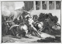 Study for the Race of the Barbarian Horses von Theodore Gericault