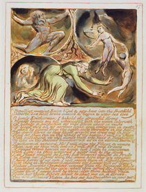 'Repelling Weeping Enion...' plate 87 from 'Jerusalem' von William Blake