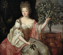 Portrait of Francoise Marie de Bourbon Duchess of Orleans by Pierre Gobert