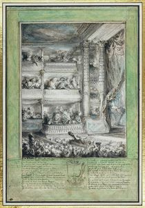 The Crowning of Voltaire at the Theatre Francais von Gabriel de Saint-Aubin