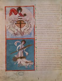 Ms 188 Fol.32v Apollo as the Sun and Diana as the Moon von French School