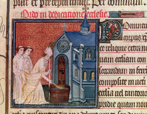 Ms Latin 962 Fol.63 Bishop Consecrating a church by French School