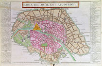 Map of Paris, June 1800 by French School