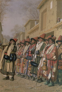 Dervishes' Chorus Begging Alms in Tashkent by Piotr Petrovitch Weretshchagin