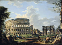 The Colosseum and the Arch of Constantine by Giovanni Paolo Pannini or Panini